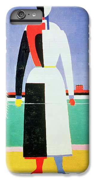 Woman With A Rake IPhone 6 Plus Case by Kazimir Severinovich Malevich