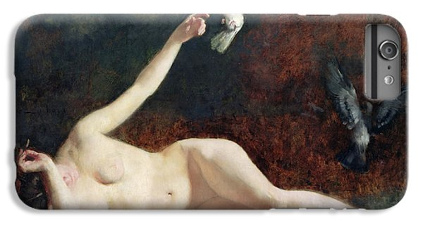 Woman With Pigeons IPhone 6 Plus Case by Ernst Philippe Zacharie