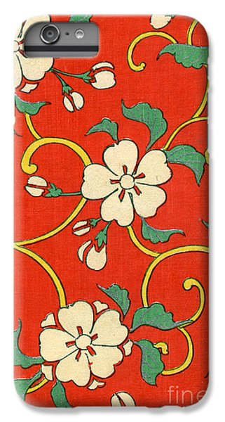 Woodblock Print Of Apple Blossoms IPhone 6 Plus Case by Japanese School