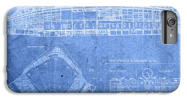 Wrigley Field Chicago Illinois Baseball Stadium Blueprints IPhone 6 Plus Case by Design Turnpike
