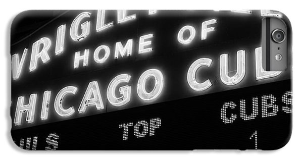 Wrigley Field Sign Black And White Picture IPhone 6 Plus Case by Paul Velgos