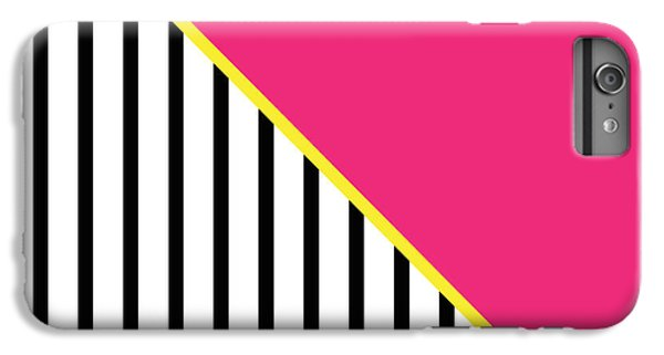 Yellow Pink And Black Geometric 2 IPhone 6 Plus Case by Linda Woods