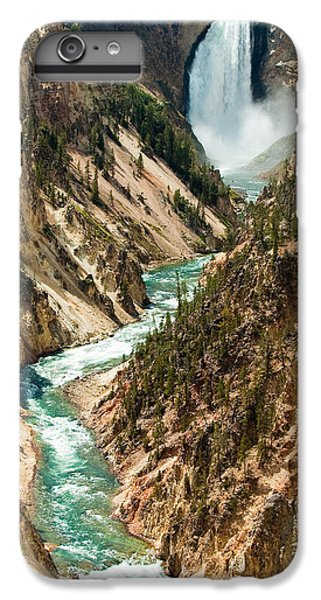 Yellowstone Waterfalls IPhone 6 Plus Case by Sebastian Musial