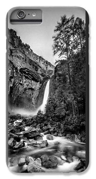 Yosemite Waterfall Bw IPhone 6 Plus Case by Az Jackson