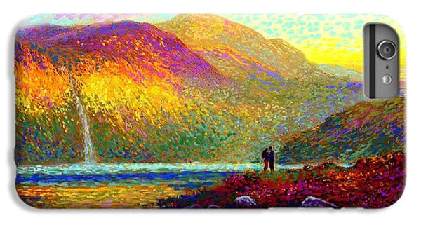Your Love Colors My World, Modern Impressionism, Romantic Art IPhone 6 Plus Case by Jane Small