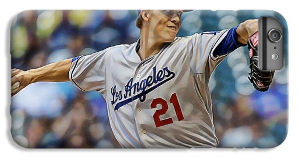 Zack Greinke Los Angeles Dodgers IPhone 6 Plus Case by Marvin Blaine