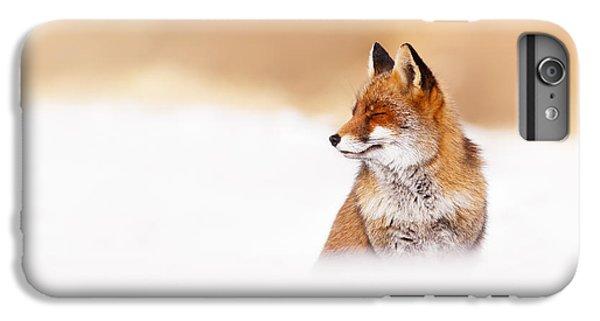 Zen Fox Series - Zen Fox In Winter Mood IPhone 6 Plus Case by Roeselien Raimond