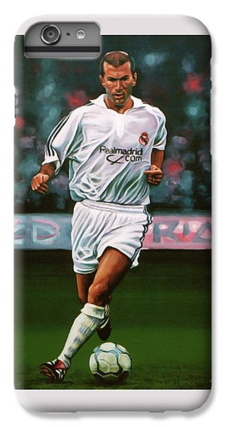 Zidane At Real Madrid Painting IPhone 6 Plus Case by Paul Meijering