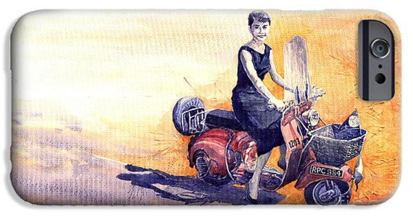 Audrey Hepburn And Vespa In Roma Holidey  IPhone 6s Case by Yuriy  Shevchuk