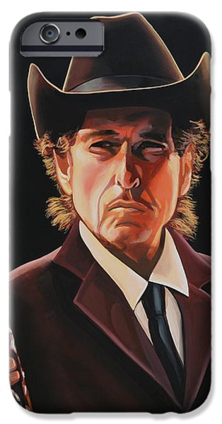 Bob Dylan Painting 2 IPhone Case by Paul Meijering