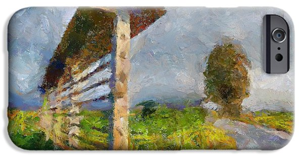 Country Road With Hayrack IPhone Case by Dragica  Micki Fortuna