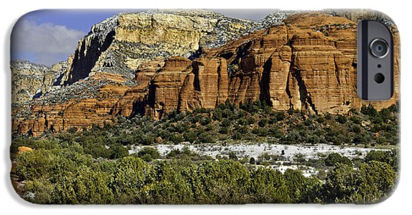 Red Rock-secret Mountain Wilderness IPhone Case by Bob and Nadine Johnston