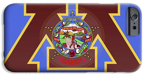 U Of M Minnesota State Flag IPhone 6s Case by Daniel Hagerman