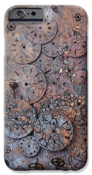 Watch Faces Decaying IPhone Case by Garry Gay