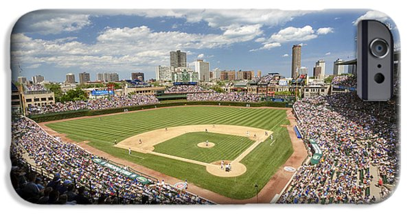 0415 Wrigley Field Chicago IPhone Case by Steve Sturgill