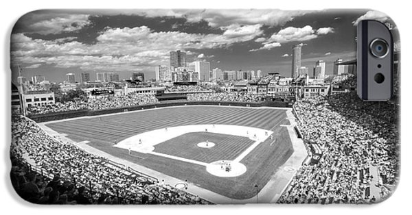 0416 Wrigley Field Chicago IPhone Case by Steve Sturgill