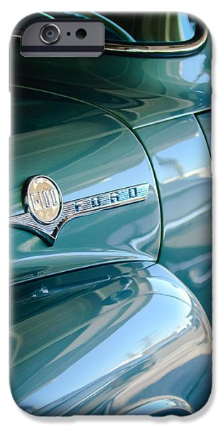 1956 Ford F-100 Truck Emblem IPhone Case by Jill Reger