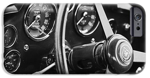1960 Aston Martin Db4 Gt Coupe' Steering Wheel Emblem IPhone Case by Jill Reger
