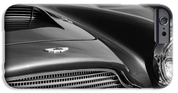 1960 Aston Martin Db4 Series II Grille - Hood Emblem IPhone Case by Jill Reger