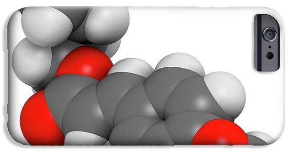 Amiloxate Sunscreen Molecule IPhone Case by Molekuul