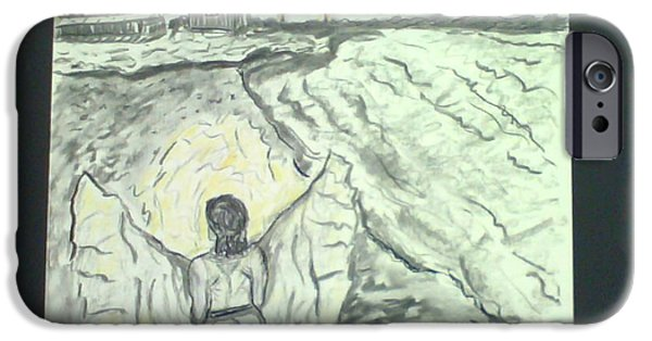 Angel In A Storm IPhone Case by Suzanne Berthier