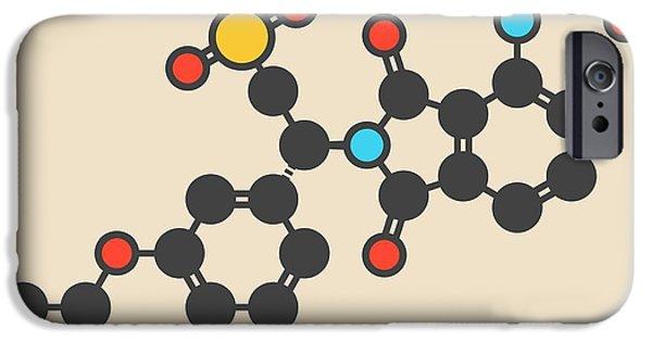 Apremilast Psoriasis Drug Molecule IPhone Case by Molekuul