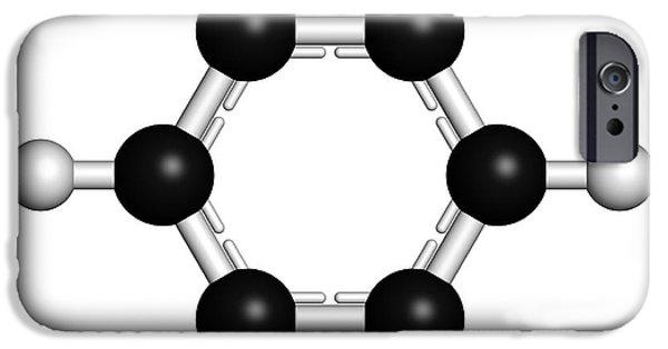 Benzene Aromatic Hydrocarbon Molecule IPhone Case by Molekuul