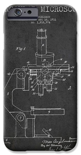 Binocular Microscope Patent Drawing From 1931 IPhone Case by Aged Pixel