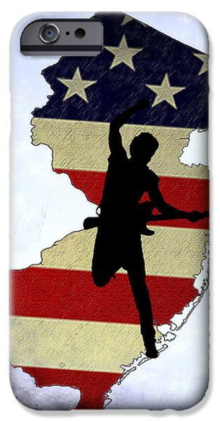 Born In New Jersey IPhone Case by Bill Cannon