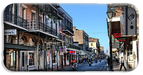 Bourbon Street Afternoon IPhone Case by Greg and Chrystal Mimbs