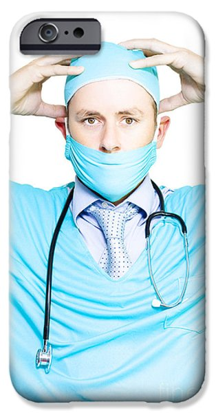 Brain Doctor Or Neurosurgeon IPhone Case by Jorgo Photography - Wall Art Gallery