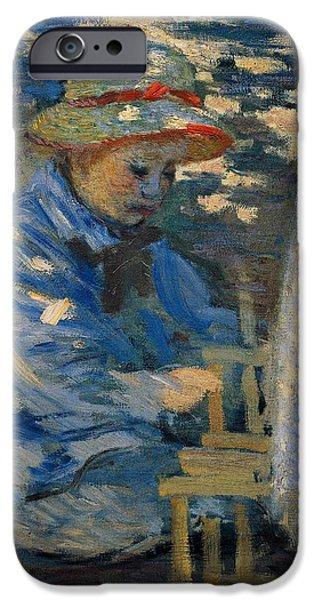 Breakfast In The Garden IPhone Case by Claude Monet