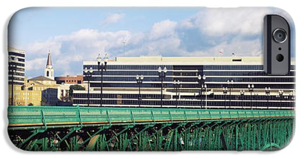 Bridge With Buildings IPhone Case by Panoramic Images