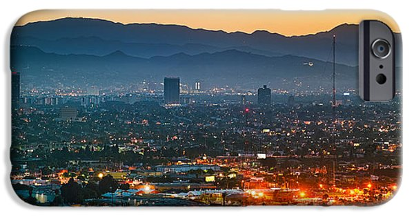 Buildings In A City, Miracle Mile IPhone Case by Panoramic Images