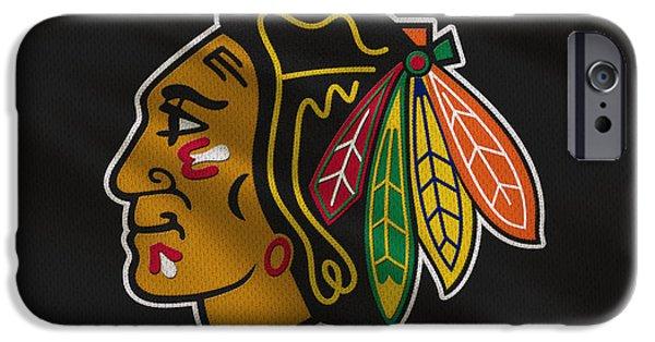 Chicago Blackhawks Uniform IPhone Case by Joe Hamilton