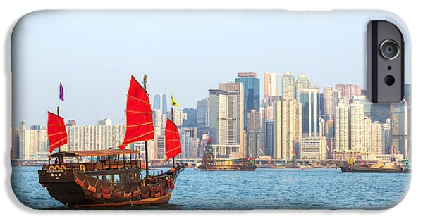 Chinese Junk Boat Sailing In Hong Kong Harbor IPhone 6s Case by Matteo Colombo