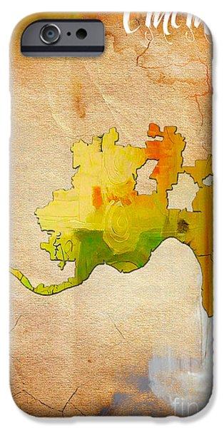 Cincinnati Map Watercolor IPhone 6s Case by Marvin Blaine