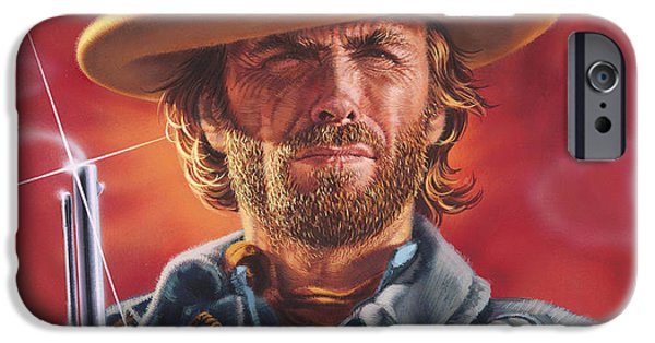 Clint Eastwood IPhone Case by Dick Bobnick