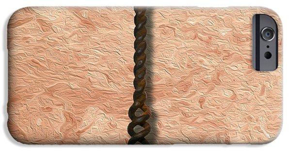 Clough Corkscrew Painting 2 IPhone Case by Jon Neidert