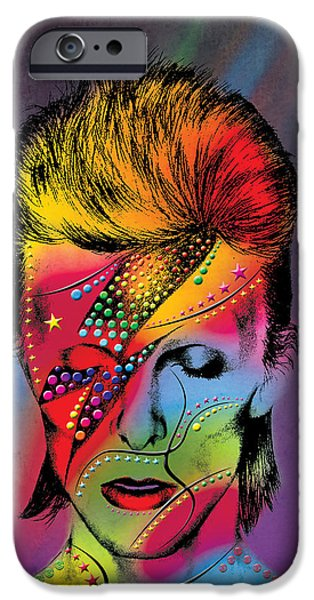 David Bowie IPhone Case by Mark Ashkenazi