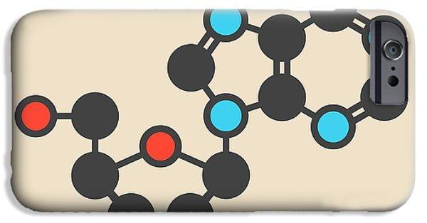 Deoxyadenosine Nucleoside Molecule IPhone Case by Molekuul