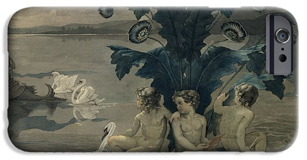 Detail Of Arion's Sea Journey IPhone Case by Philipp Otto Runge