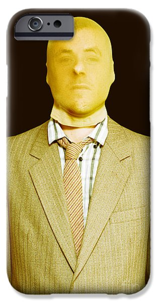Dodgy Business Person In Stocking Mask IPhone Case by Jorgo Photography - Wall Art Gallery