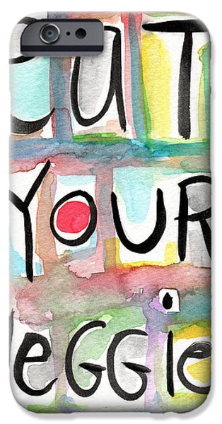 Eat Your Veggies  IPhone Case by Linda Woods