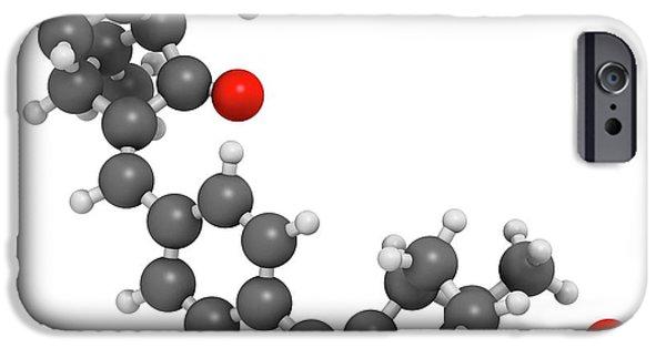 Ecamsule Sunscreen Molecule IPhone Case by Molekuul