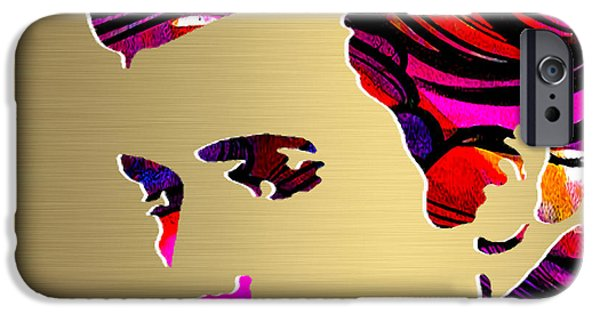 Elivs Gold Series IPhone Case by Marvin Blaine