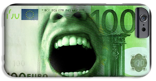 Euro Crisis IPhone Case by Smetek