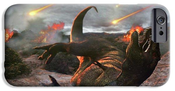 Extinction Of The Dinosaurs IPhone Case by Karsten Schneider