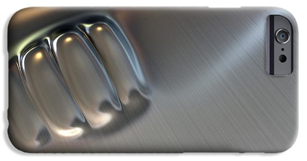 Fist Punched Metal IPhone Case by Allan Swart