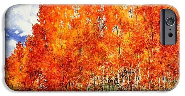 Flaming Aspens 2 IPhone Case by Barbara Jewell